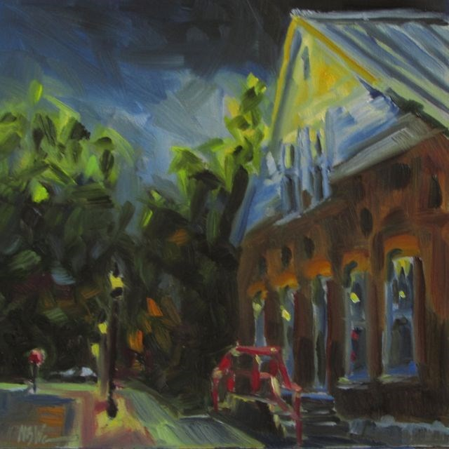 """""""THE ELECTRIC COMPANY"""" original fine art by Mb Warner"""
