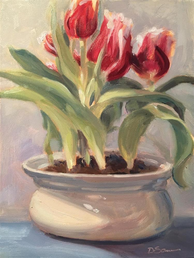 """A Little Bit of Spring"" original fine art by Deborah Savo"