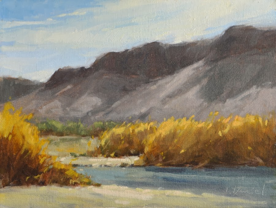"""""""River Grasses - Big Bend, Texas"""" original fine art by Laurel Daniel"""