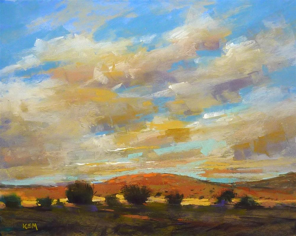 """A Simple Way to Add Drama to Your Cloud Paintings"" original fine art by Karen Margulis"
