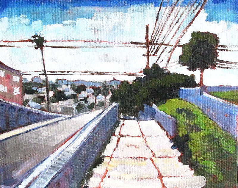 """University Avenue in North Park"" original fine art by Kevin Inman"