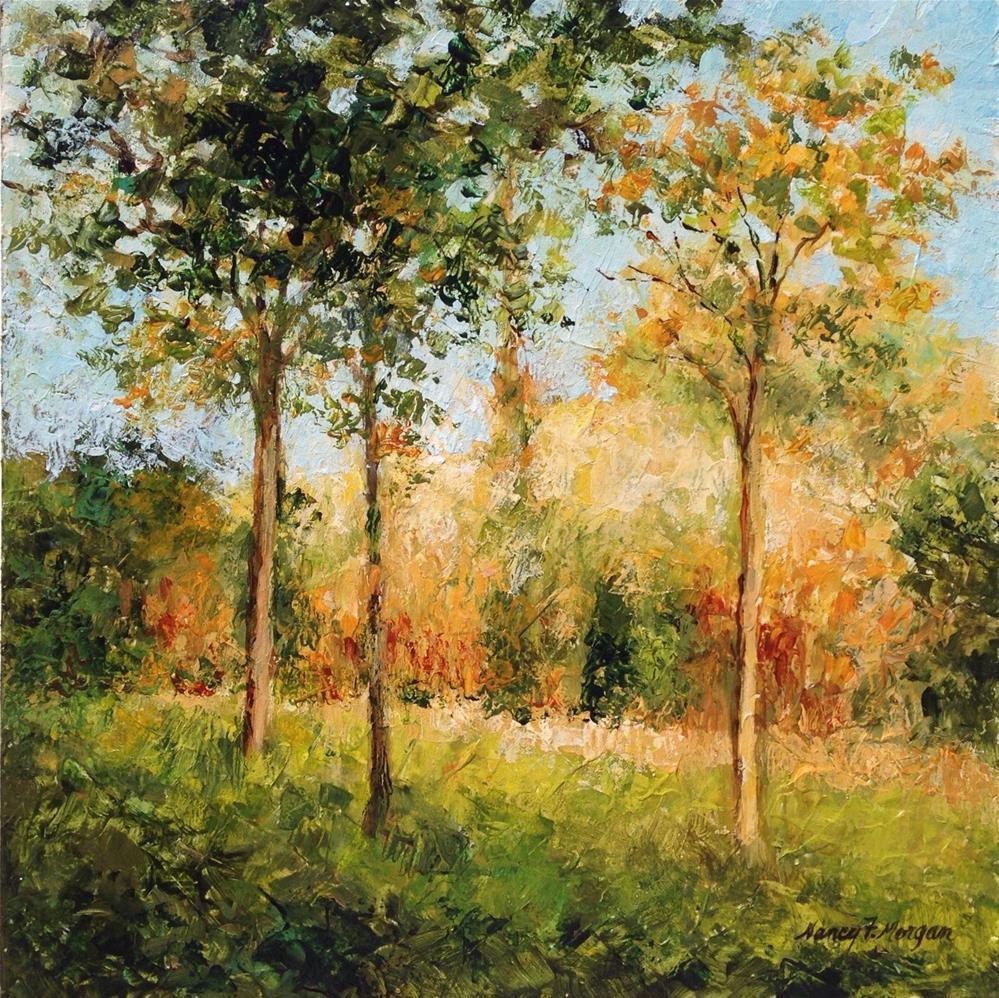 """Early Autumn"" original fine art by Nancy F. Morgan"
