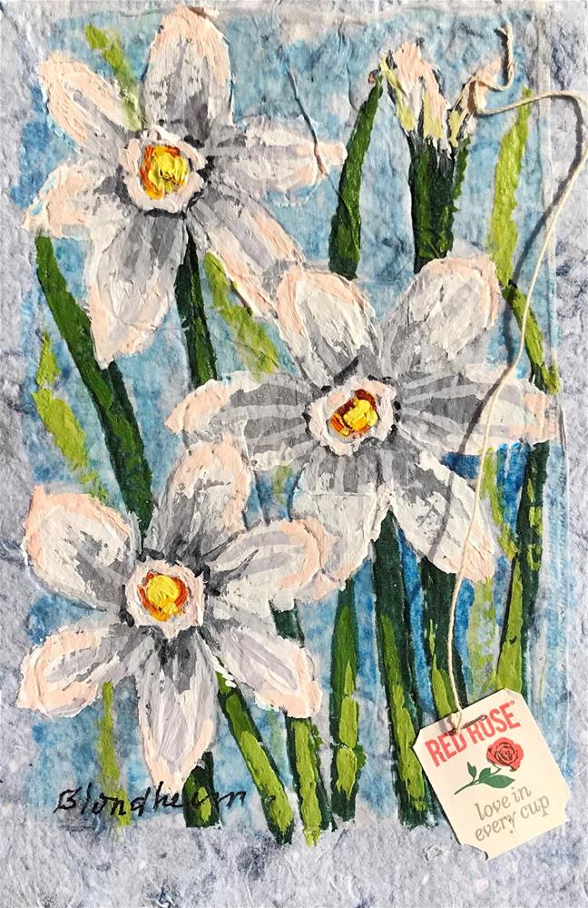 """""""Paper Whites"""" original fine art by Linda Blondheim"""
