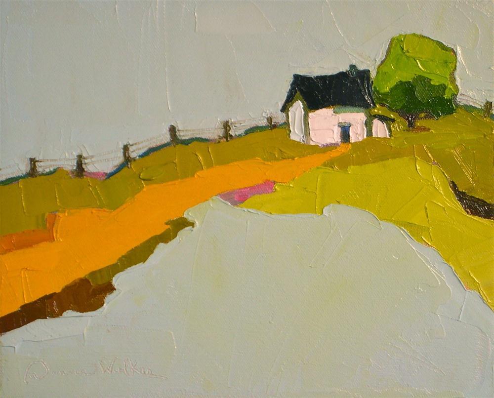 """Hilltop Solace"" original fine art by Donna Walker"
