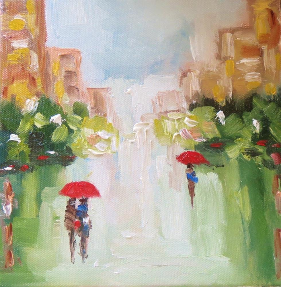 """Rainy Day"" original fine art by Astrid Buchhammer"