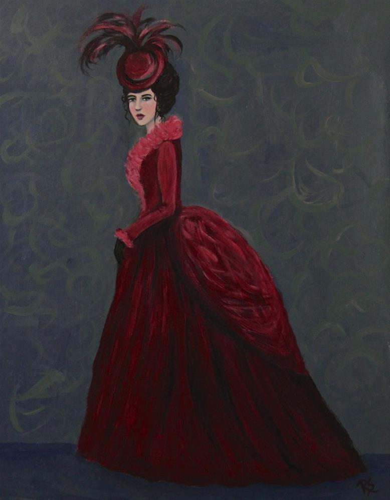 """""""Baroness Bristol"""" original fine art by Roberta Schmidt"""