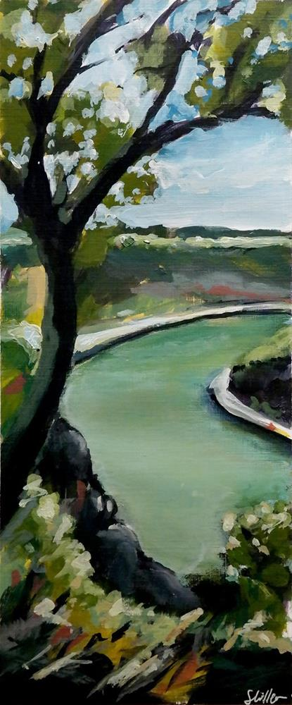"""1954 Leisurely River"" original fine art by Dietmar Stiller"