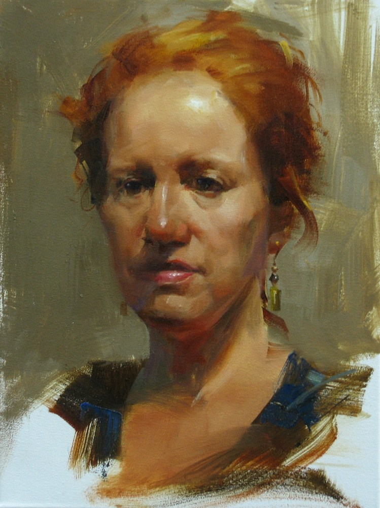 """AAU Portrait Painting 3"" original fine art by Qiang Huang"