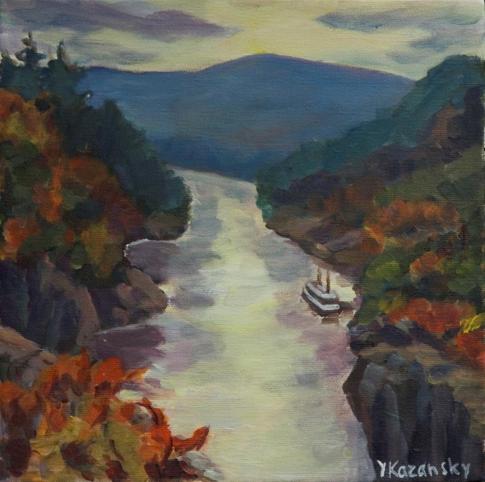 """St.Croix River, Minnesona"" original fine art by Yulia Kazansky"