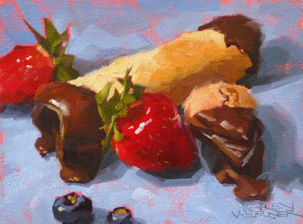 """Cannoli"" original fine art by Karen Werner"