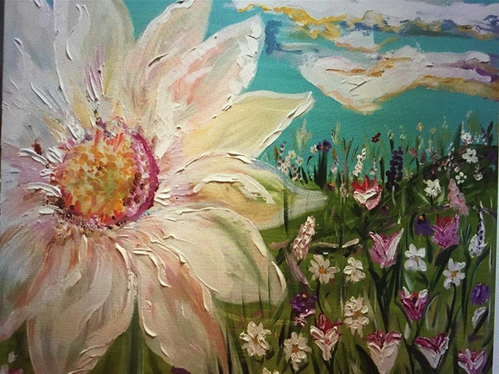 """""""Daisy Field"""" original fine art by Yvonne Snead"""