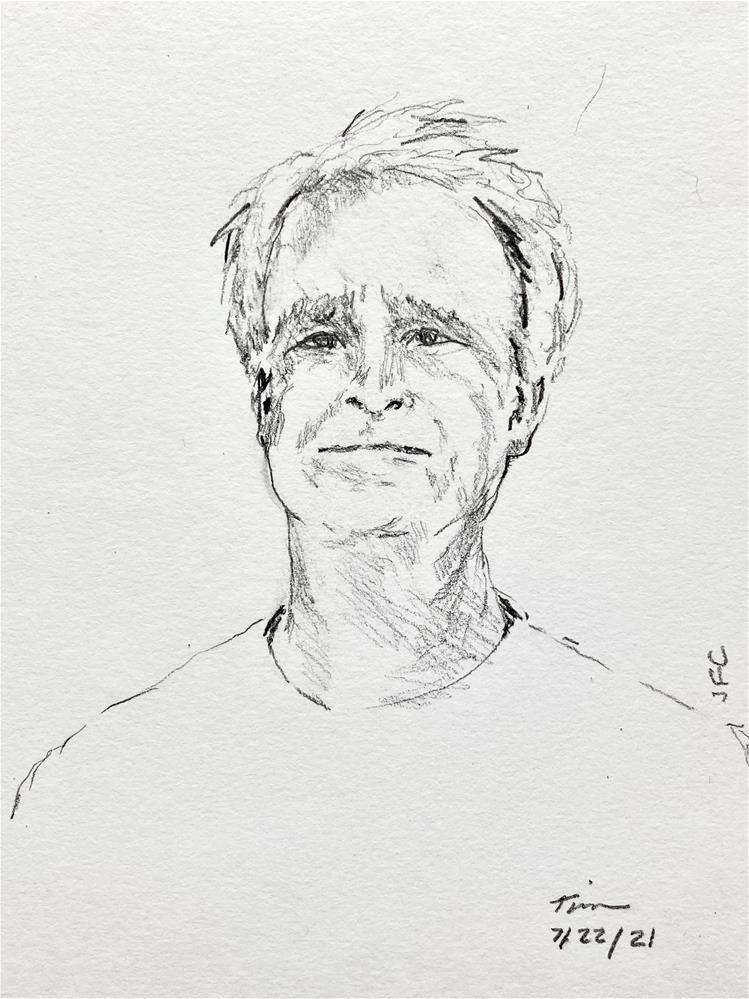 """Sketch of a Man"" original fine art by Judith Freeman Clark"