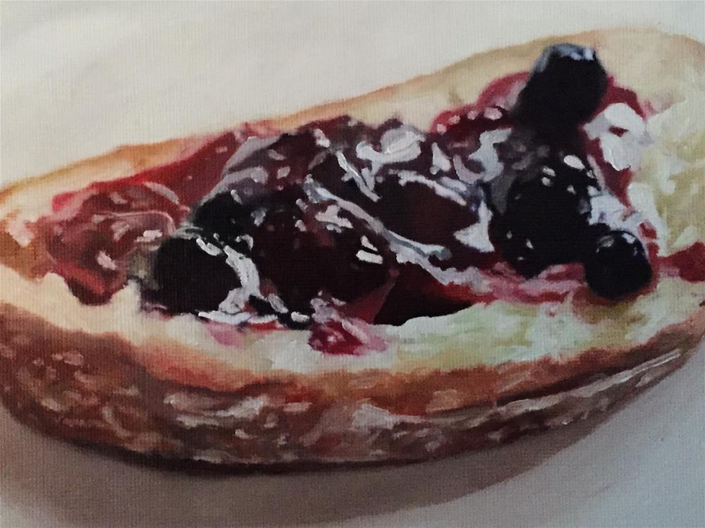 """Berry Jelly On Toast"" original fine art by John Cameron"
