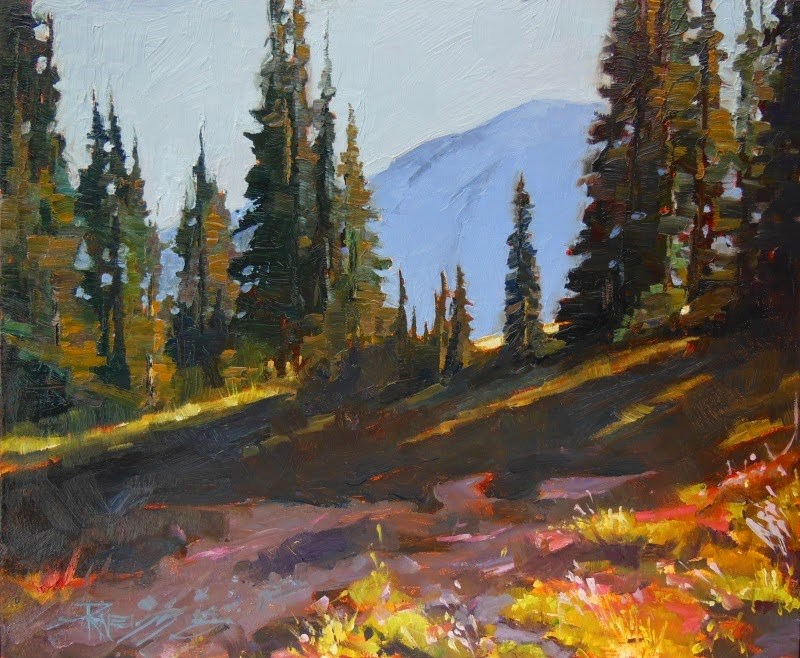 """""""Up the Grand Park Trail  oil landscape painting by Robin Weiss"""" original fine art by Robin Weiss"""