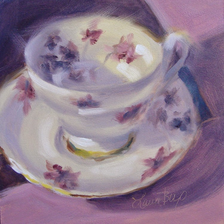 """""""Last Teacup (for a while) 329"""" original fine art by Laura  Buxo"""