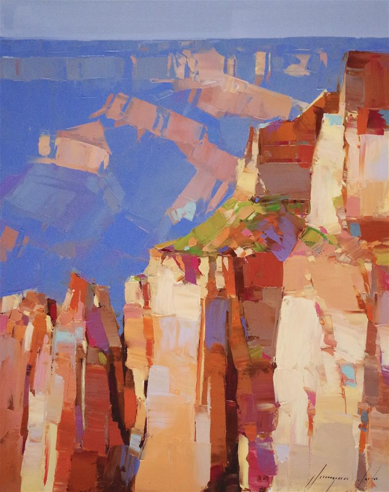 """Grand Canyon, Landscape oil Painting on Canvas, One of a Kind"" original fine art by V Y"