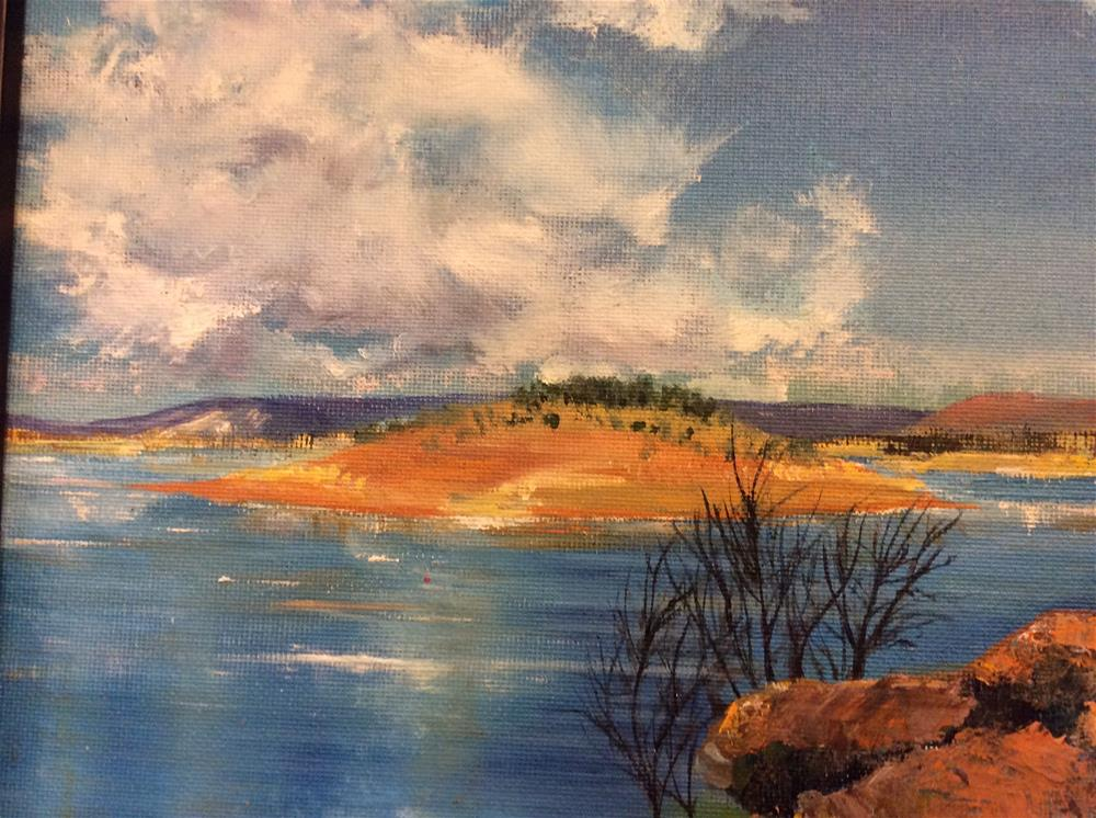 """Antique Lake II"" original fine art by Kathy Marques"