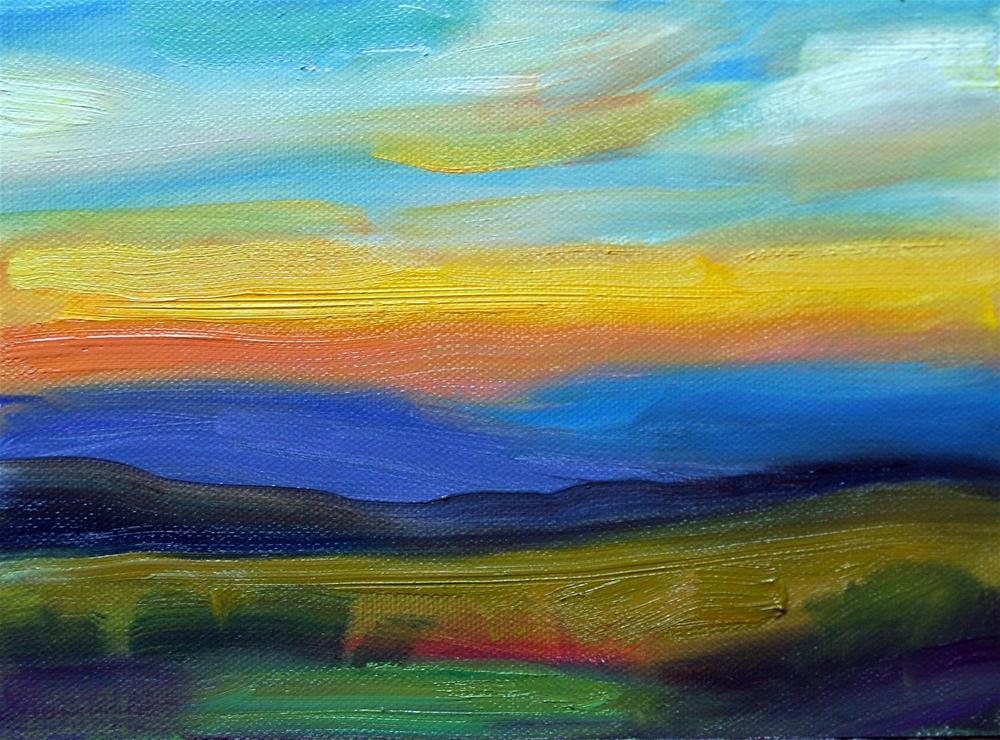 """""""The Simplified Landscape"""" original fine art by Julie Ford Oliver"""