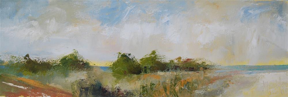 """Beach Road"" original fine art by Deborah Harold"