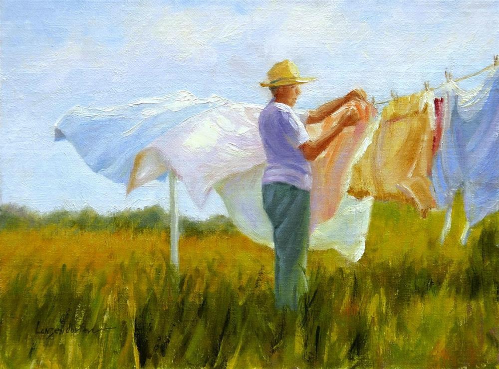 """""""WASH DAY"""" original fine art by Dj Lanzendorfer"""