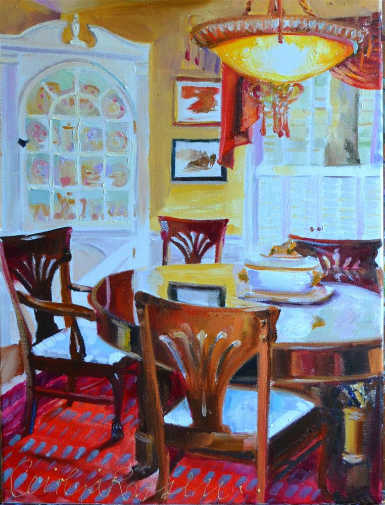 """""""GINGER'S DINING ROOM"""" original fine art by Cecilia Rosslee"""