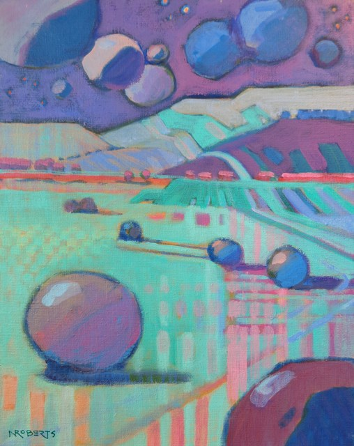 """Sky Boulders"" original fine art by Nancy Roberts"