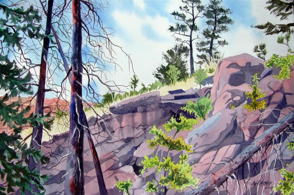 """Powderhorn Hillside"" original fine art by Jeff Atnip"