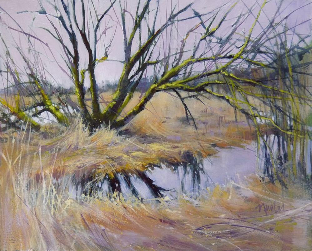 """Lavender Marsh"" original fine art by Barbara Benedetti Newton"
