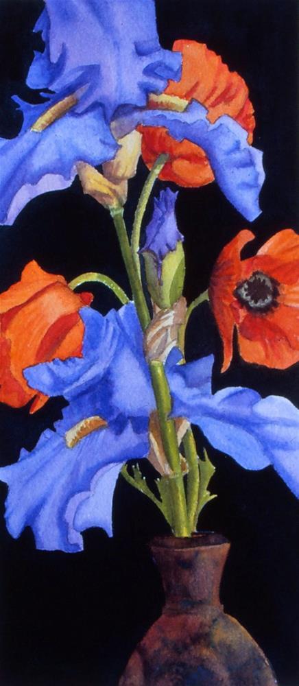 """Poppies & Irises"" original fine art by Mark Allison"