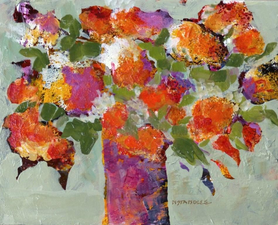 """""""Posies 15016"""" original fine art by Nancy Standlee"""