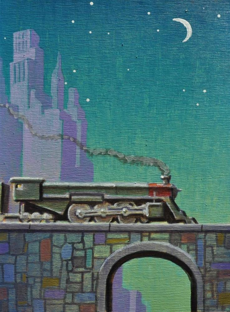 """Locomotive"" original fine art by Robert LaDuke"