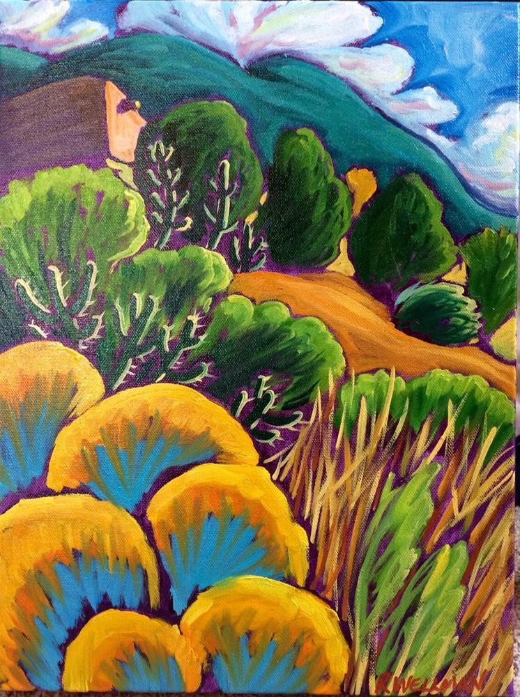 """Warm Chamisa Day"" original fine art by Robyn Wellman"