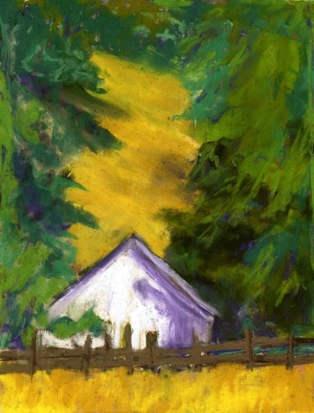 """""""Golden Hills"""" original fine art by Donna Crosby"""