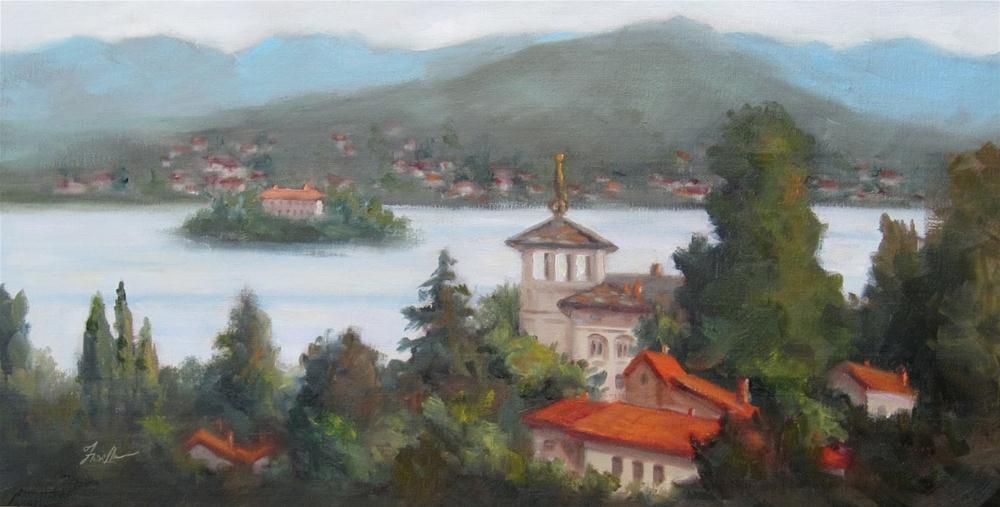 """""""Lake Orta, Italy"""" original fine art by Pat Fiorello"""