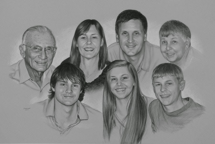 """A Family Portrait Commission"" original fine art by Rita Kirkman"