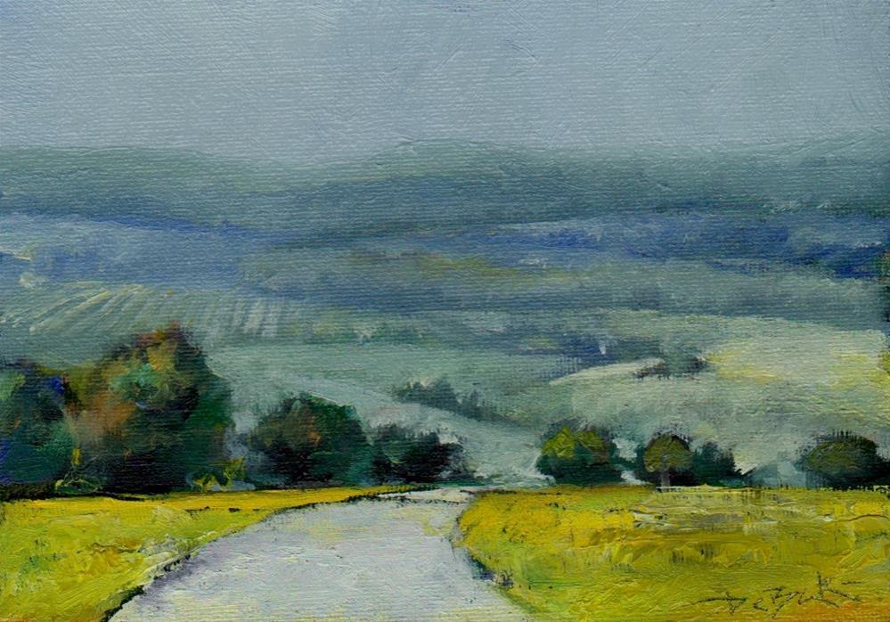 """Hill"" original fine art by Mark DeBak"
