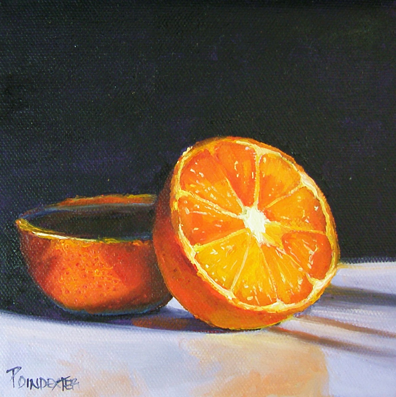 """Orange Slice"" original fine art by Dianna Poindexter"