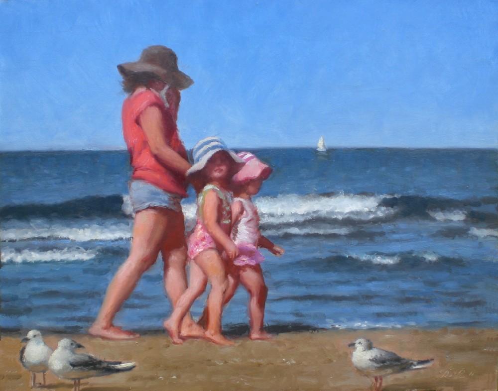 """""""A Day at the Beach"""" original fine art by Debra Becks Cooper"""