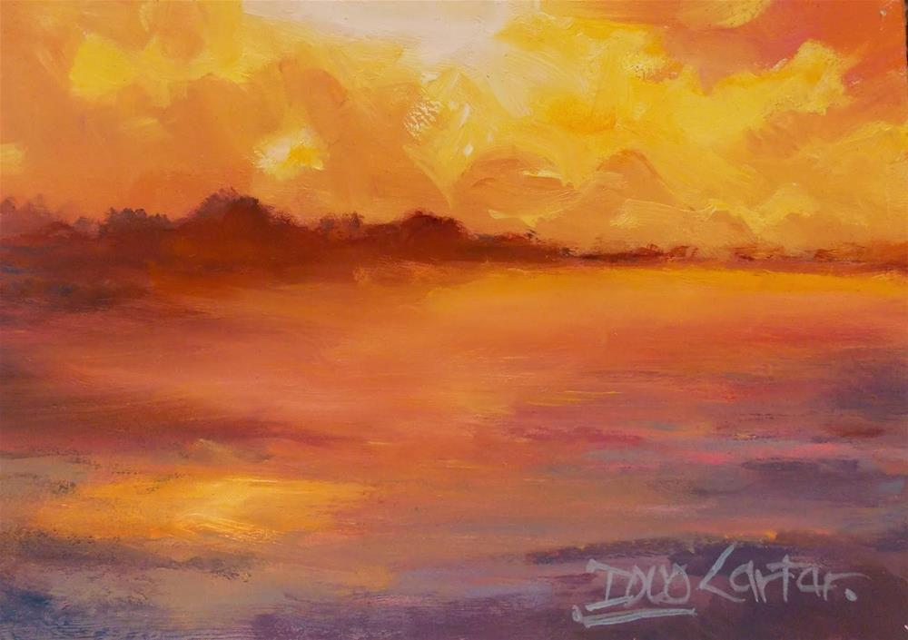 """""""GOLD BEACH"""" original fine art by Doug Carter"""