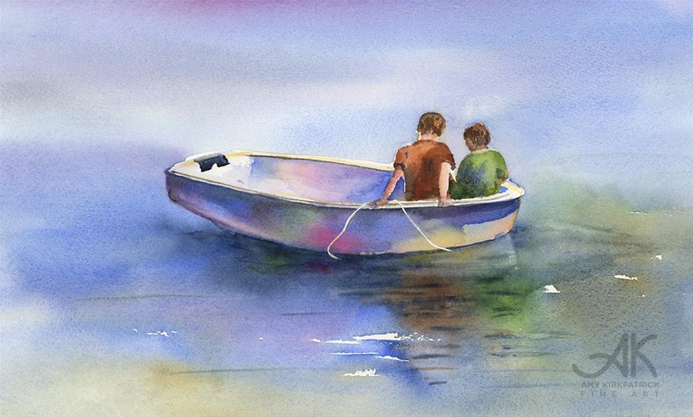 """DINGHY CONVERSATION #0522"" original fine art by Amy Kirkpatrick"
