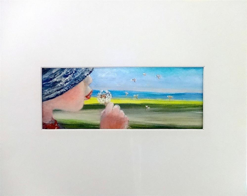 """3235 - Matted - Blowing in the Wind"" original fine art by Sea Dean"