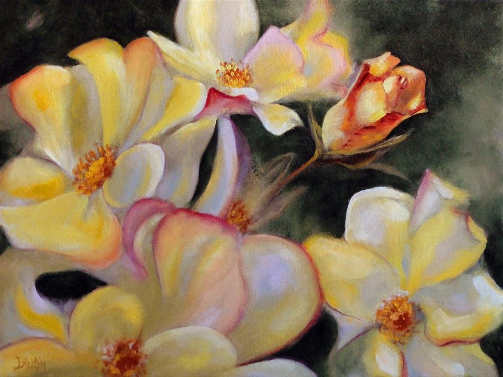 """Yellow Roses"" original fine art by Dalan Wells"