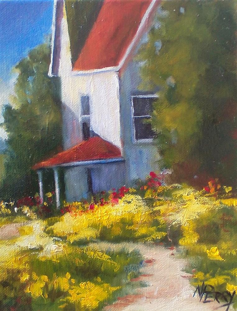 """""""Spring Blooms with White House """" original fine art by Nan Perry"""