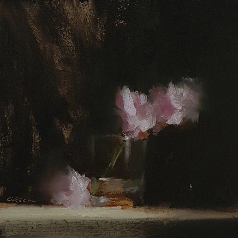"""""""Glass of Carnations"""" original fine art by Neil Carroll"""