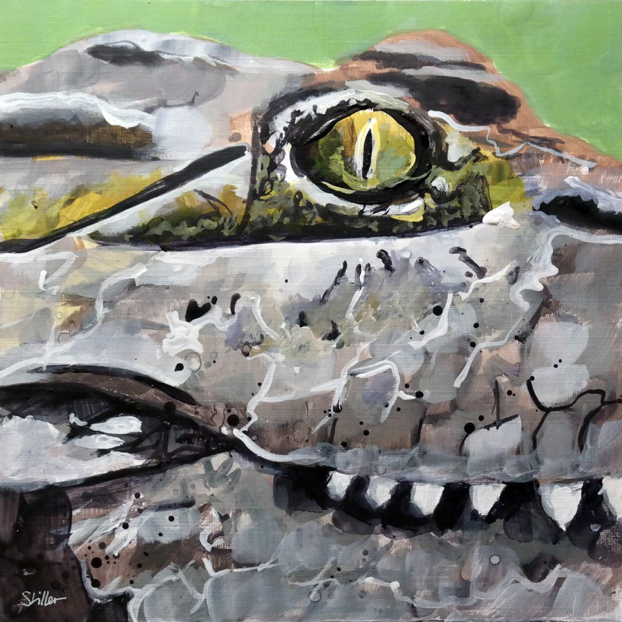 """2750 Croco"" original fine art by Dietmar Stiller"