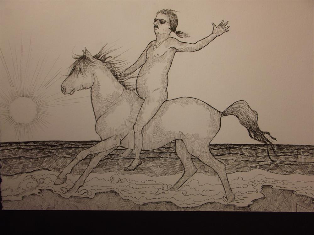 """""""An American Man, Nude, No. 337"""" original fine art by wanda sigafus"""