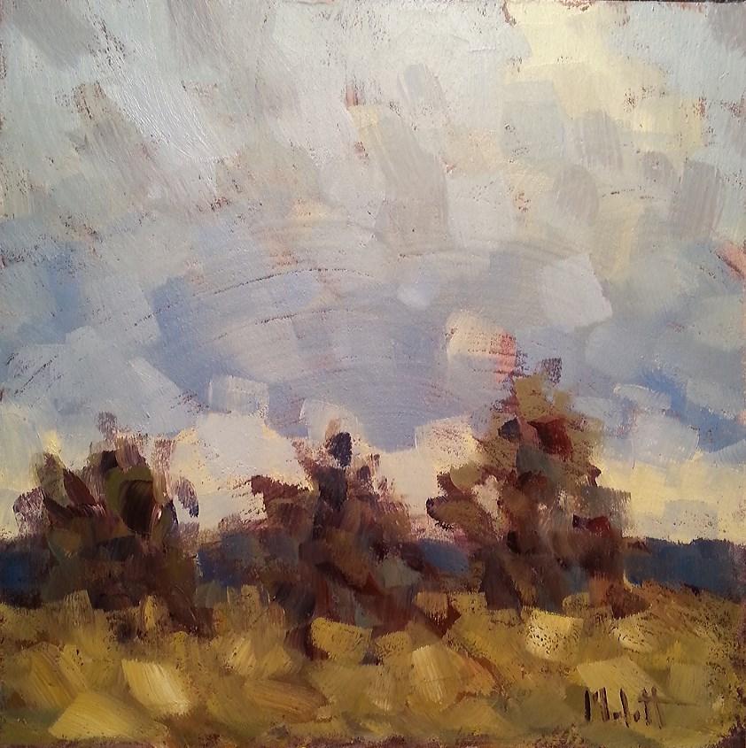 """Beyond the Ridge Autumn Landscape Original Oil Painting"" original fine art by Heidi Malott"