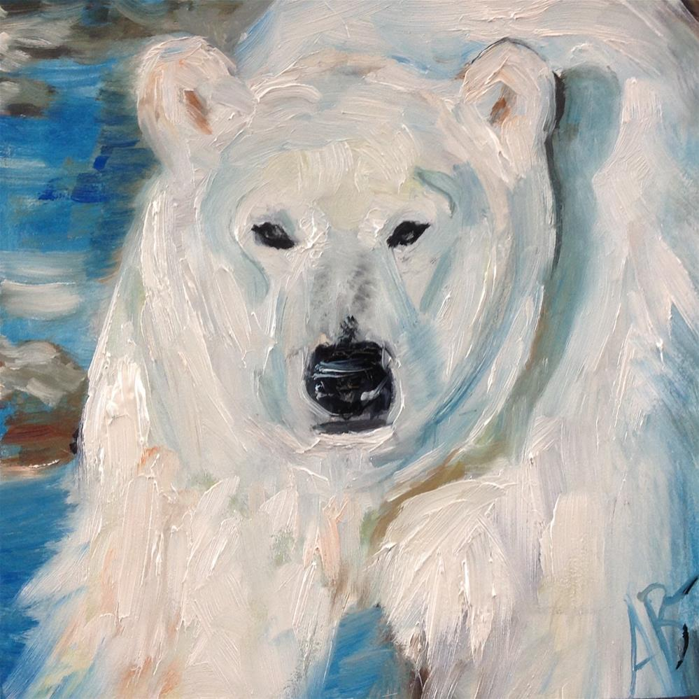 """White Bear's morning"" original fine art by Annette Balesteri"