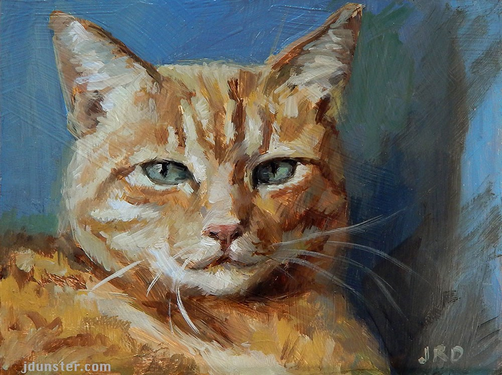 """Proud Orange Cat"" original fine art by J. Dunster"