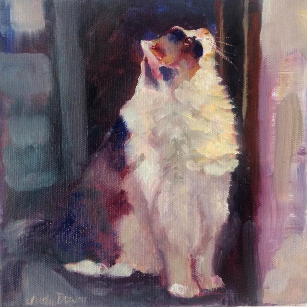 """Nom nom?"" original fine art by Judy Downs"